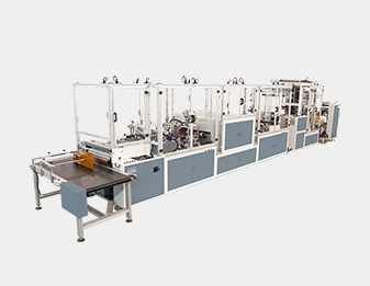 High Speed Zipper In-Line Hot Lamination Side Sealing Machine